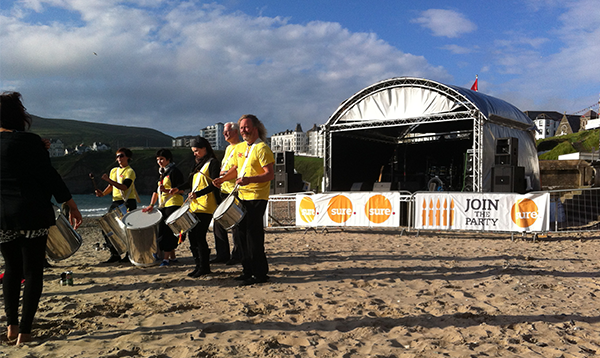 Outdoor event stage - Port Erin Isle of Man
